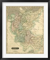 Framed Thomson's Map of Germany