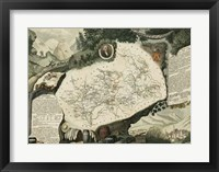 Framed Atlas Nationale Illustre VIII