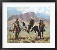 Framed Three Cowboys