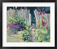 Framed Hollyhock Garden