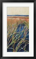 Framed Pastel Wetlands I
