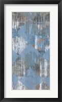 Harlequin Blue I Framed Print