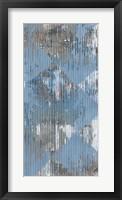 Harlequin Blue II Framed Print