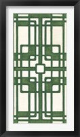 Framed Non-Embellished Emerald Deco Panel I