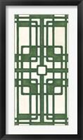 Non-Embellished Emerald Deco Panel I Framed Print