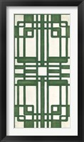 Non-Embellished Emerald Deco Panel II Framed Print