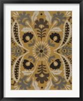 Golden Suzani I Framed Print