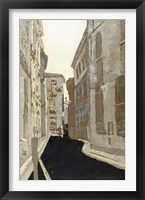 Non-Embellished Streets of Paris I Framed Print