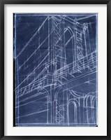 Bridge Blueprint I Framed Print