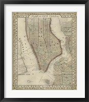 Framed Plan of New York