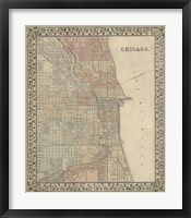 Framed Plan of Chicago