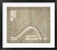 Framed Plan of New Orleans