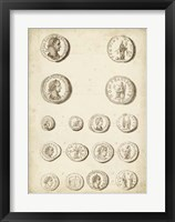 Antique Roman Coins II Framed Print