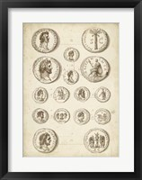 Antique Roman Coins IV Framed Print