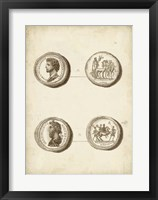 Antique Roman Coins VI Framed Print