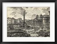 Framed Veduta della Piazza della Rotunda