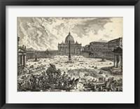 Framed Veduta della Basilica di S.Pietro