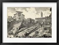 Framed Veduta del Romano Campidoglio
