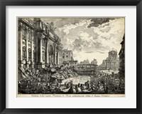 Framed Veduta della Vasta Fontana di Trevi