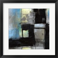 Black on Blue II Framed Print