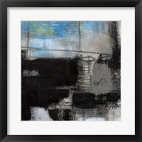 Black on Blue III Framed Print