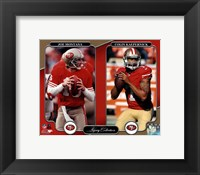 Framed Joe Montana & Colin Kaepernick Legacy Collection