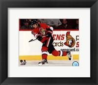 Framed Erik Karlsson on ice 2013-14