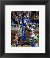 Framed Calvin Johnson 2013 catching the ball