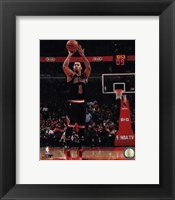 Framed Derrick Rose 2013-14 Action