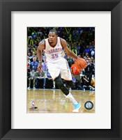 Framed Kevin Durant Dribbling Basketball