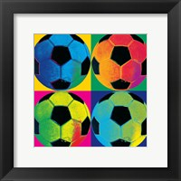 Framed Ball Four-Soccer