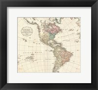 Framed 1795 D'Anville Wall Map of South America