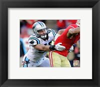 Framed Luke Kuechly 2013 Action