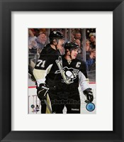 Framed Sidney Crosby & Evgeni Malkin 2013-14 Action