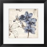 Framed Blushing Blue II - Mini