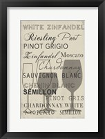 White Wine Collection - Mini Framed Print
