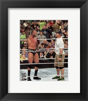 Framed Randy Orton & John Cena 2013 Survivor Series Action