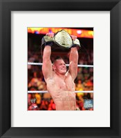 Framed John Cena with the World Heavyweight Championship Belt 2013 Survivor Series
