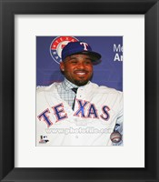 Framed Prince Fielder 2013 Press Conference