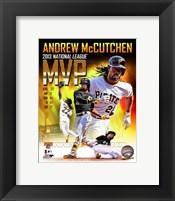 Framed Andrew Mccutchen 2013 National League MVP Portrait Plus
