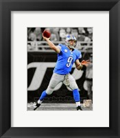 Framed Matthew Stafford 2013 Spotlight Action