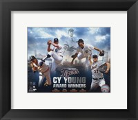 Framed Detroit Tigers Cy Young Winners Portrait Plus