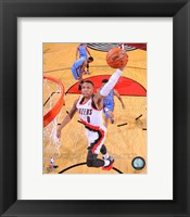 Framed Damian Lillard 2013-14 Action