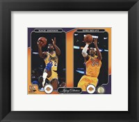 Framed Magic Johnson & Kobe Bryant Legacy Collection