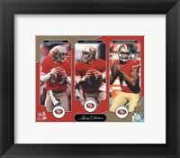 Framed Joe Montana, Steve Young, & Colin Kaepernick Legacy Collection
