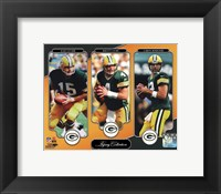 Framed Bart Starr, Brett Favre, & Aaron Rodgers Legacy Collection