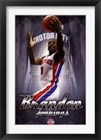 Framed Detroit Pistons - B Jennings 13