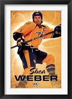 Framed Nashville Predators - S Weber 13
