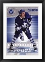 Framed Toronto Maple Leafs - D Clarkson 13
