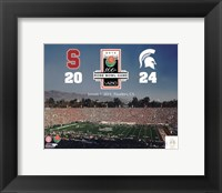 Framed 2014 Rose Bowl Champions Michigan Spartans Vs. Stanford Cardinals